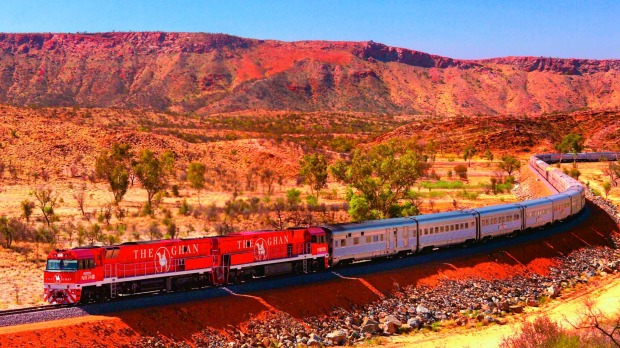 On Board The Ghan Travelling Adelaide To Darwin On A