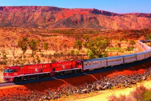 The Ghan accommodates about 330 guests in comfort.