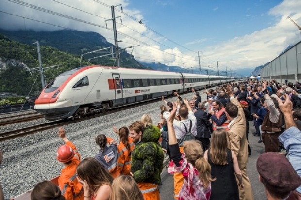 The launch of the Gotthard Base Tunnel, Switzerland.