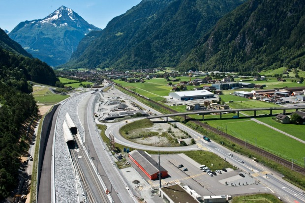 Nordportal, Altdorf, Zentrals: Gotthard Base Tunnel, Switzerland.
