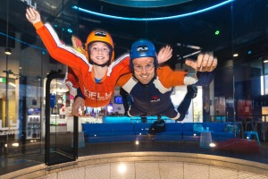 Kids can experience the motion of flying: The iFly, Gold Coast.