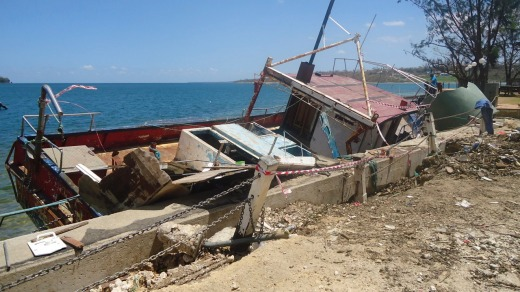 Destruction from Cyclone Pam.