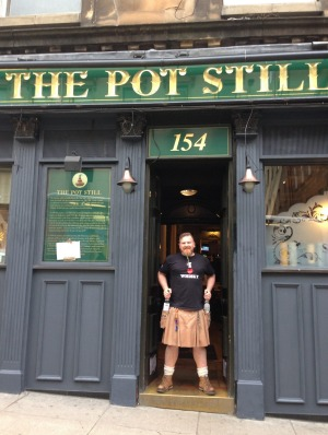 The Pot Still has one of the finest collections of malt whisky in Scotland.