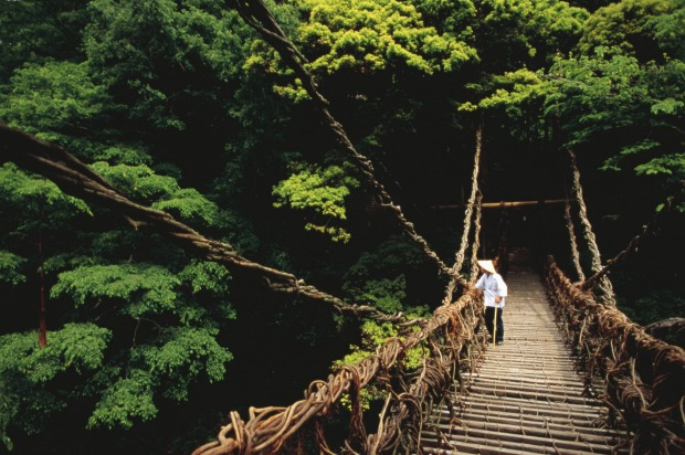 SHIKOKU, JAPAN Shikoku is wedged between big-island Honshu and Kyushu in southern Japan and is open to the Pacific Ocean ...