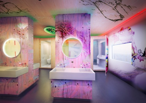 Shared showers and WC: Joe&Joe youth hostel by AccorHotels.