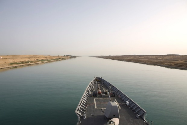 SUEZ CANAL, EGYPT. The 193-kilometre canal that connects the Mediterranean and Red Seas was officially opened on ...