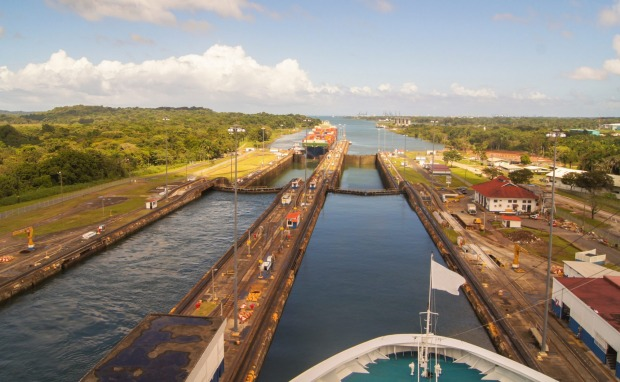 PANAMA CANAL, REPUBLIC OF PANAMA. Arguably the most famous man-made waterway in the world, the Panama Canal allows ships ...