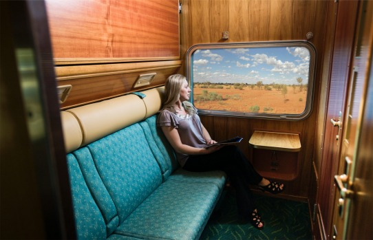 Gold service twin cabin: The Ghan.