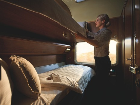 Gold service twin cabin: The Ghan