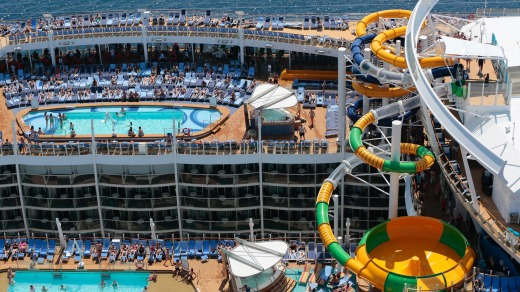 Harmony of the Seas' canyon design means many cabins have balconies facing into the ship.