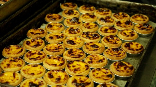 Egg tarts with an English twist at Lord Stow's Bakery.