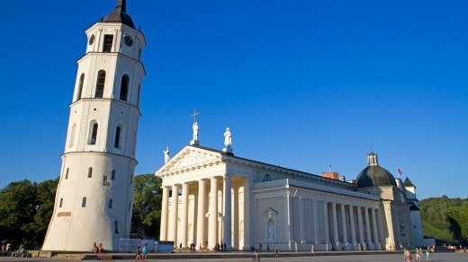 Vilnius Cathedral and belltower.
