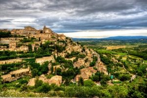 The striking hilltop town of Gordes in Provence, France.