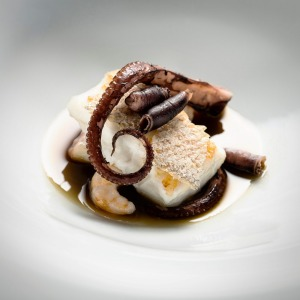 The Yeatman: Hake roasted with octopus and salicornia sauce.