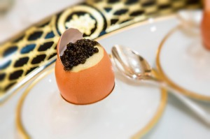 Caviar Bar restaurant in the UNESCO-listed Grand Hotel Europe, St Petersburg, Russia.