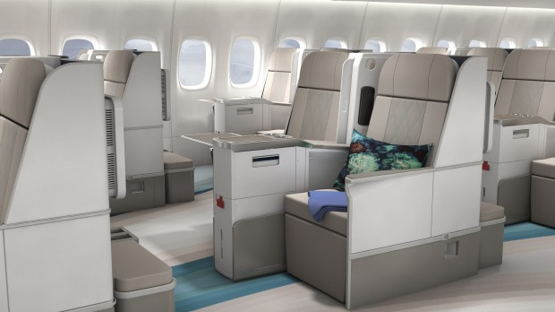 Spacious seating on the luxury airliner.