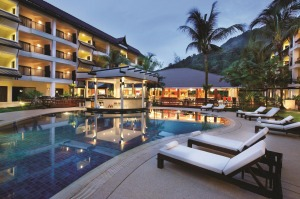 Poolside at the  Swissotel Resort Phuket, Thailand.