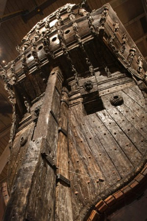 Too big to sail: The Vasa blew over due to being too top heavy.