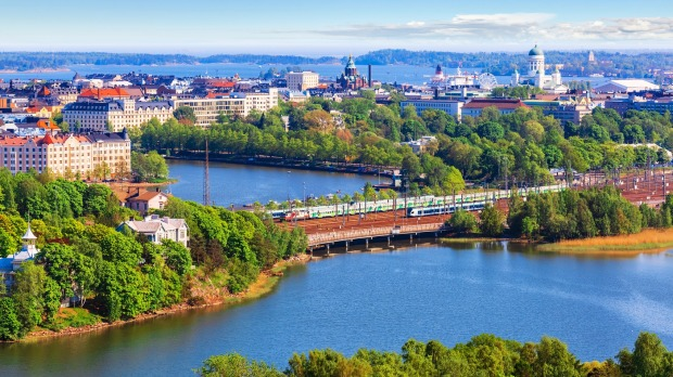 Finland has been named the safest country. Pictured: Helsinki.