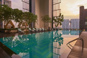 Oasia Hotel Downtown, Singapore: Lots of touches designed to create a sense of wellbeing.