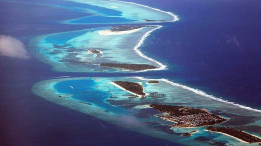 North Male atoll from above.