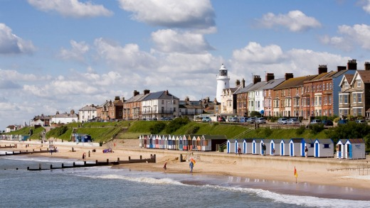 Southwold seafront and beach.