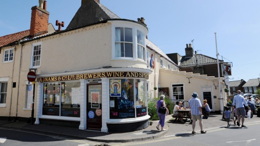 The Adnams Brewery shop, Southwold