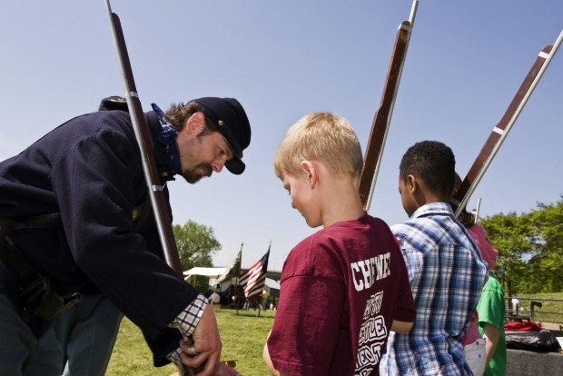 Richmond Civil War Day, begun in 1997, features period events and demonstrations including blacksmithing, quilt making, ...
