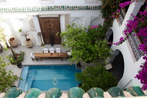 Pool view at Riad Yeux Bleus Marrakesh