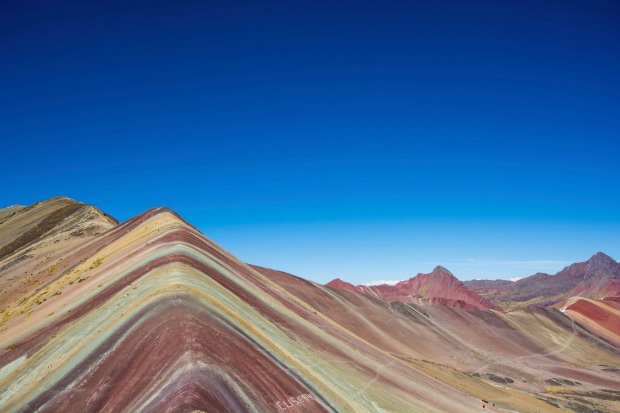 VINICUNCA MOUNTAINS, PERU, SOUTH AMERICA  WHAT IS IT Rainbow-coloured sandstone mountains on the Ausangate Trek, ...