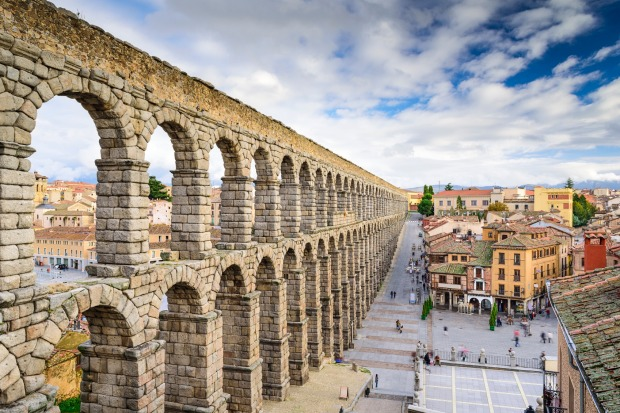 The Aqueduct, Segovia, Spain: Spanning two hilltops either side of the entrance to the city centre, Segovia's aqueduct ...