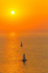 Let your dreams set sail Santorini, Greece.