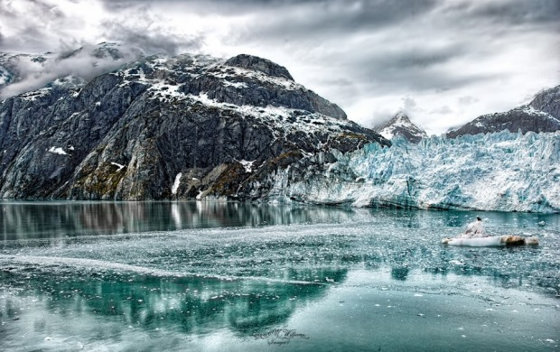 We went on a cruise to Glacier Bay in Alaska. It was the most magical place. They had turned the engines off and ...