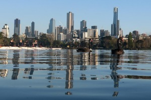 Albert Park Lake: You are now closer to the finish of the run than the start.
