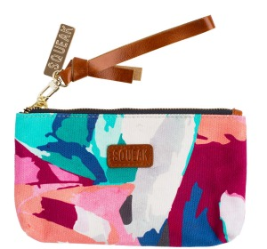 Squeak's digitally printed cotton canvas pouch is great for keeping small items in while travelling.