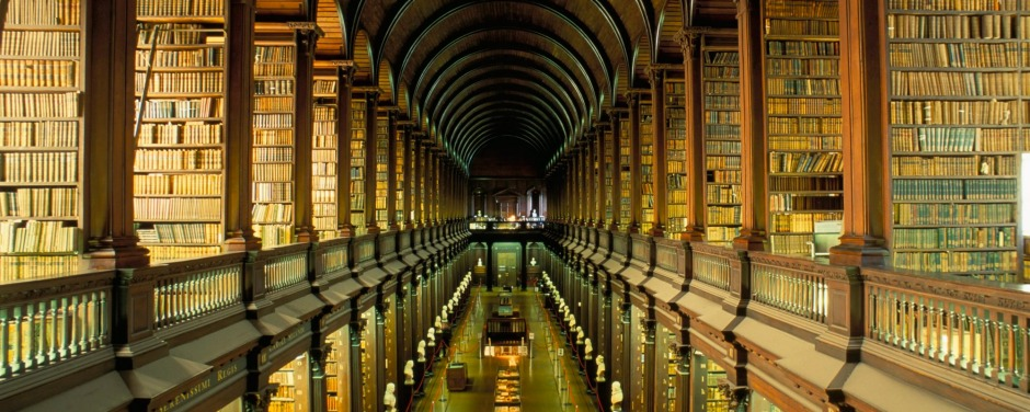 Gallery of the Old Library, Trinity College, Dublin.