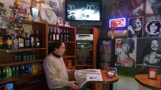 Calcata's Rock Cafe appears to be fascinated by musicians who died young.