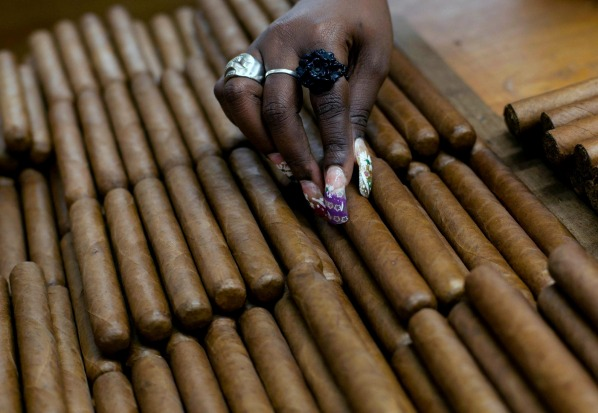 Cigars at the H. Upmann cigar factory, where people can take tours as part of the 15th annual Cigar Festival in Havana, Cuba.