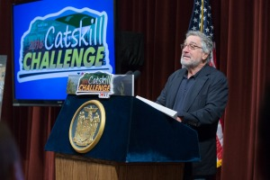 Robert De Niro kicks off the 2016 Catskill Summer Challenge at the Bethel Woods Centre for the Arts.
