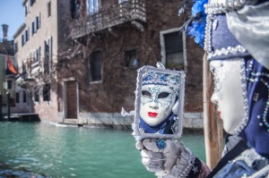 A performer in Venice's annual Carnevale.