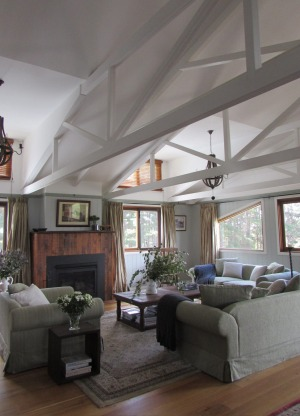Rustic antique furnishings and timber floorings are features.