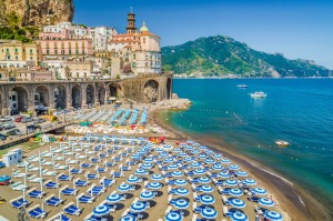 The town of Atrani on the famous Amalfi Coast, Campania, Italy.