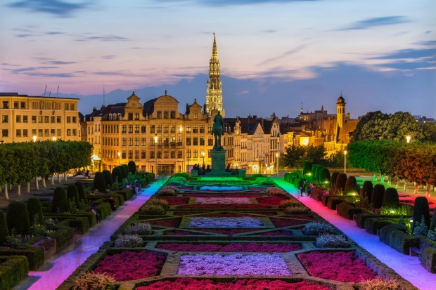 View of Brussels city centre.
