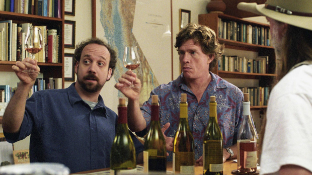 In this promotional photo released by Fox Searchlight Pictures, actors Paul Giamatti, left, and Thomas Haden Church appear in a scene from