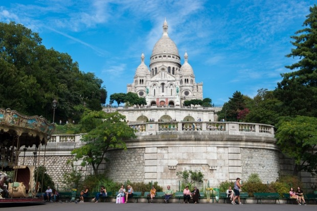 At the foot of Montmartre we watched everyone going about their day; tourists making the climb, mothers watching their ...