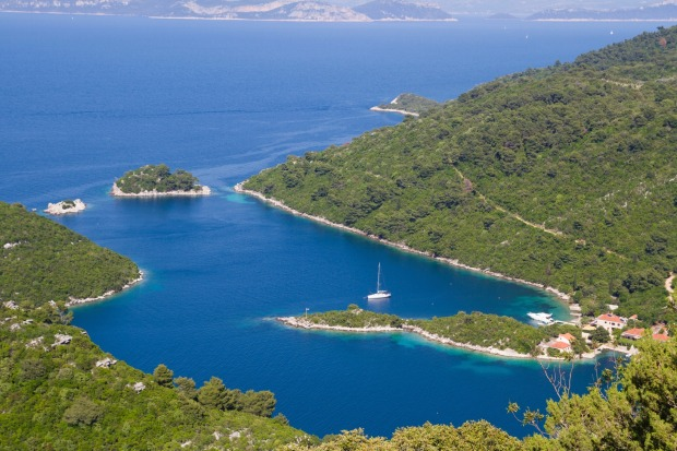 Beautiful island of Mljet in Croatia.