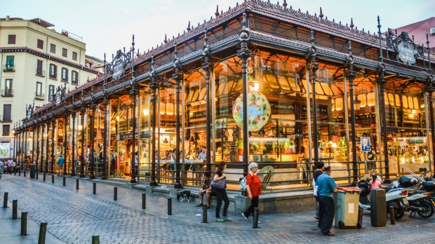 The famous San Miguel Market in Madrid.