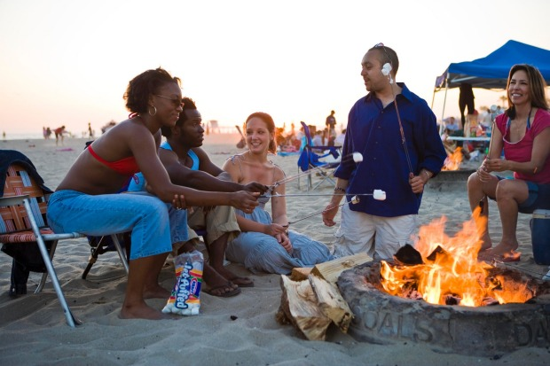 S'mores on Huntington Beach.