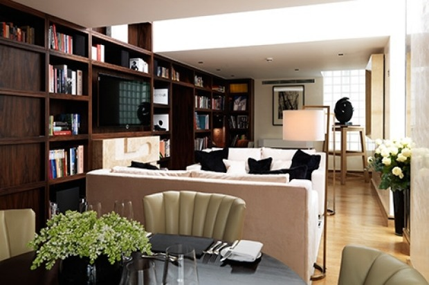 Library Suite in the Connaught, London.