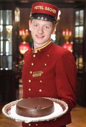 The true sacher-torte is available only at Vienna's Hotel Sacher.